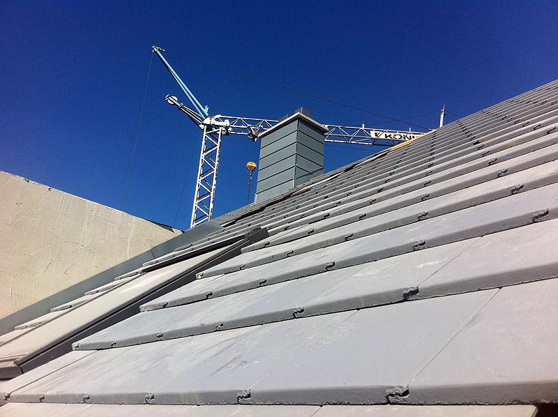Moderne Dachlandschaft... 20.8.2011, 18:00 Uhr.