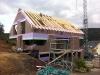 Unterm Dachstuhl fast fertig ausgemauert. 14.7.2011, 11:30 Uhr