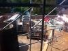 Auf der Garage ist an Dach noch nicht zu denken! 2.8.2011, 15:00 Uhr.