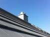 Detail: Kaminverkleidung und Dachflächenfenster Treppenhaus. 23.10.2001, 14:30 Uhr