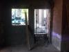 Rohbauphase: Fenster und Nebentür Garage.