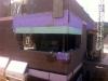 Rohbauphase: Küchenfenster.