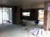 Rohbauphase: Küche und Eingangsbereich.