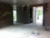 Rohbauphase: Büro und Eingangsbereich.