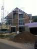 Nordfassade, komplett bestückt. 4.10.2011, 18:00 Uhr