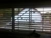 Gegenschuss: Küchenfenster, Jalousienprobefahrt. 7.10.2011, 17:00 Uhr