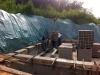 Betonieren der Hangabstützung. 10.5.2011, 17.15 Uhr