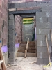 Schalung der Treppe zwischen Haus und Garage. 20.5.2011, 7.00 Uhr.