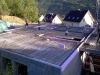Bewehrung der Kellerdecke fertig. 25.5.2011, 7:00 Uhr