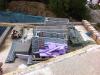 Gerüstbauteile sind auch schon da. 19.6.2011, 14:00 Uhr