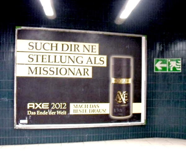 Missionarsstellung bei AXE